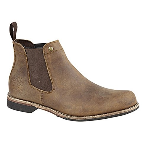 Woodland Mens Leather Dealer/Chelsea Boot (12 US) (Brown)