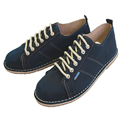 Zapatos con Cordones - Piel de Ante - Sneaker - Mujer Azul Petrol