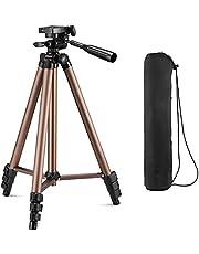Tripe para Celulares e Câmeras de Aluminio 1,06 m Com Suporte Adaptador Para Celular e Bolsa