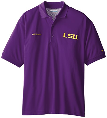 (NCAA LSU Tigers Collegiate Perfect Cast Polo Shirt, Vivid Purple,)