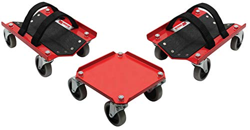 Extreme Max 5800.0228 V-Slides Snowmobile Dolly System, Powdercoated Steel ()