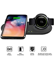 Kartice 2 in 1 Samsung Galaxy Wireless Charger Duo, Fast Wireless Charger Stand,Uiversally Qi Enabled Phone Samsung Galaxy S10e/S10/S10+/Note 9/Note 8 and Select Galaxy Watch 46mm/42mm Gear S3 Watches