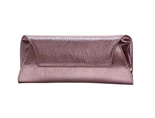 Mode Nouveau Cuir En Banquet Sac pink Pochette Féminine vqdqxrwZO