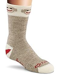 Fox River Red Heel Monkey Around Crew Socks, X-Small, Brown