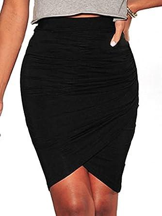 NICE BUY Mini faldas Plisadas Atractivo de las mujeres del abrigo ...