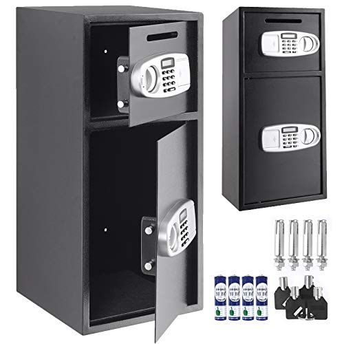 - VEVOR Large Double Door Security Safe Box Steel Safe Box Strong Box with Digital Lock for Money Gun Jewelry Black