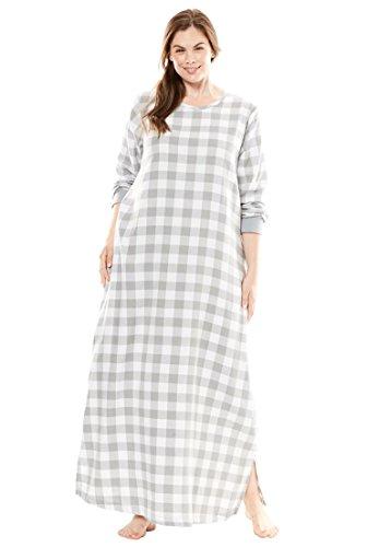 Dreams & Co. Women's Plus Size Soft Cotton Flannel Lounger