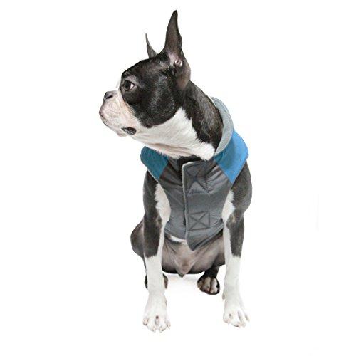 Gooby Active Trekking Dog Jacket, Large, Ocean Blue