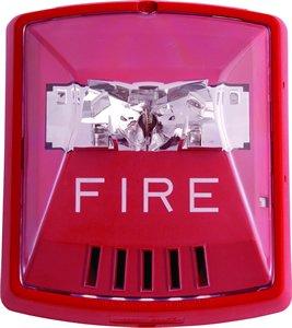 Wheelock HSR Exceder Fire Alerting Strobe Horn RED,2W,Wall Mount, 12/24V, 8CD