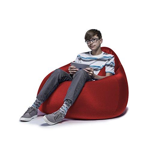 Jaxx Nimbus Spandex Bean Bag Chair for Teens, Cardinal - Cardinals Lounger