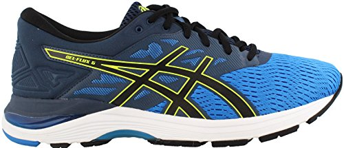 ASICS Men's Gel-Flux 5 Running Shoe, Directoire Blue/Black/Safety Yellow 9 D(M) US