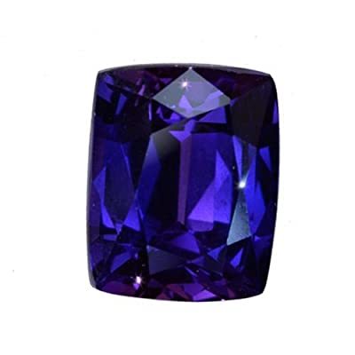 Purple-blue Lab Sapphire Cushion Gemstone 14mm by uGems