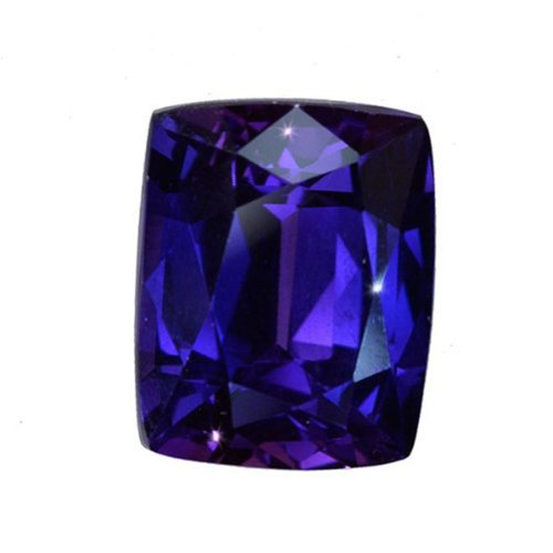 Purple-blue Lab Sapphire Cushion Gemstone 14mm