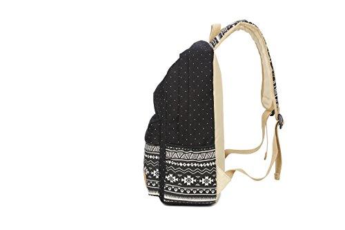 b5af5ab6e8b5 Ulgoo Canvas Casual School Backpacks Teen Girls Bookbags Shoulder ...