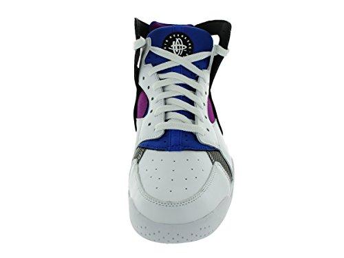 Nike Air Flug Huarache Herren Hallo Top Trainer 705005 Turnschuhe Schuhe Weiß / Schwarz-Lyon Blau-Fett Berry