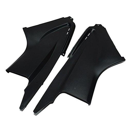 Beautyexpectly 2PCS Black Air Dust Cover Fairing Insert Part for Yamaha YZFR6 YZF R6 2003-2005 2004