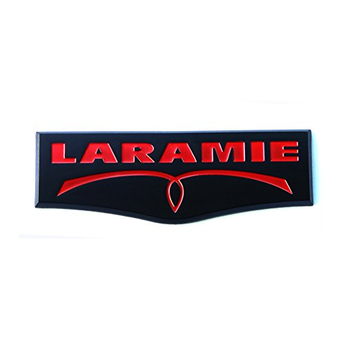1pc OEM Laramie Tailgate Emblem Badge 3D Laramie Nameplate for Ram 1500 2500 3500 Black Red