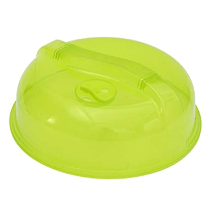 """Plastic Microwave Plate Cover Clear Steam Vent Splatter Lid 10.25/"""" in Food Dish"""