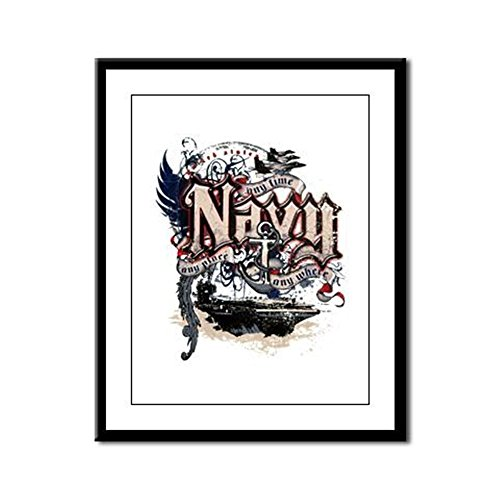 (Framed Panel Print US Navy Any Time Any Place Any Where)