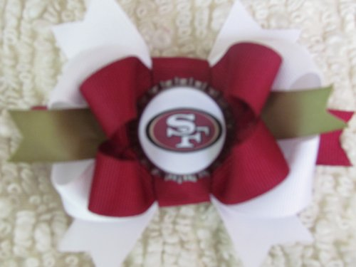 San Francisco 49ers Hair Bows