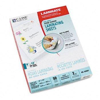 Pack of5 C-Line/® Cleer Adheer/® Laminating Film SHEET,LAM,CR ADHEER,9X12 57727