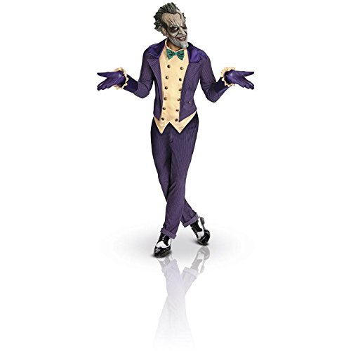 Rubie's Men's Batman Arkham City Joker Costume, Purple, One (Batman Cosplay Costume For Sale)