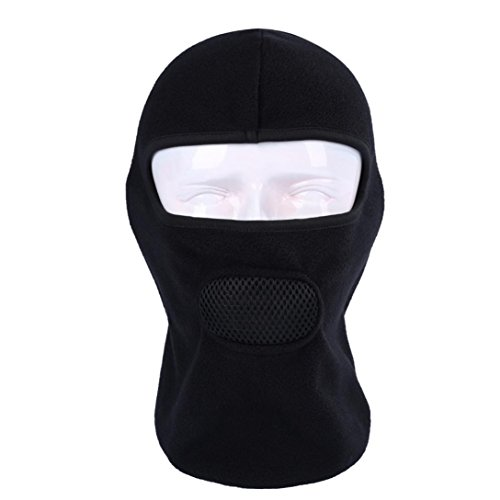 - Face Mask Motorcycle Bicycle Football Outdoor Sports Headgear Warm Scarf Fabric Hat Tactical Mask Vibola (Black)