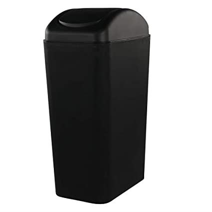 Amazon Com Ramddy Slim Trash Can 14l 5 Gallon Black Modern