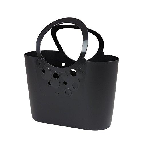 Borsa spiaggia cestino flessibile multiuso Lily 40 x 17 x 45,5 cm colore: nero