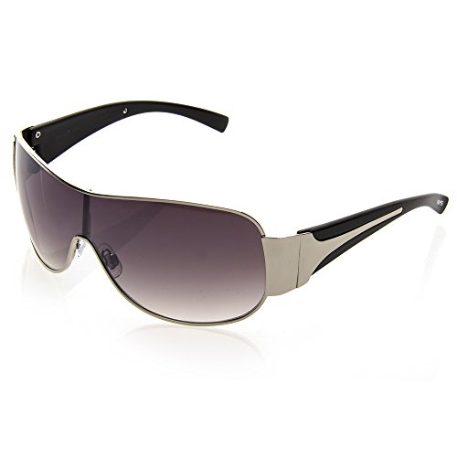 NYS Collection Cypress Hills Metal Sunglasses, Silver-Black Frame/Smoke - Sunglasses Nys