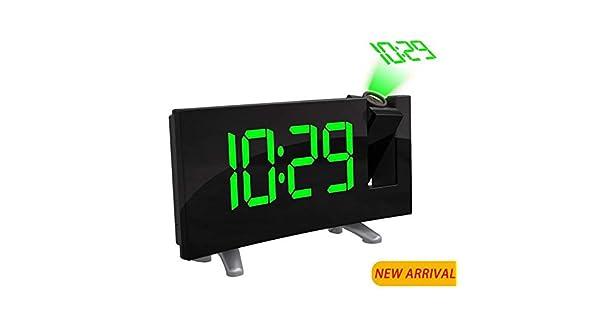 Amazon.com: Relojes de alarma para dormitorios, proyector ...