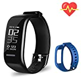 Beitong Fitness Tracker HR, Activity Tracker Watch with Heart Rate Monitor, Waterproof Smart
