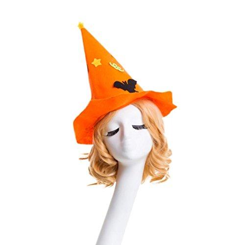 Hats,Orangeskycn Fashion Masquerade Witch Hat Halloween Hat Parties Carnivals Party Decorative (Orange)