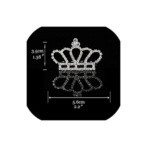 Princess Crown for Girls Show Bridal Crown Tiara Diadem Silver Crystal Floral Wedding Bridal Hair Accessories Head Jewelry,2 ()