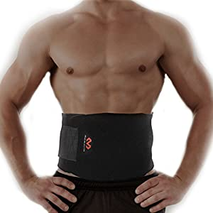 MD Adjustable Waist Trimmer belt- Weight Loss- Abdominal Muscle & Back Supporter, One Size Fits Most