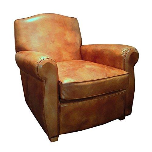 Coja by Sofa4life Valencia Top Grain Leather Club Chair, (Verona Club Chair)