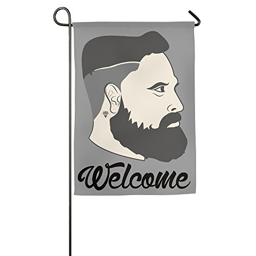 Hipster Style Head Man Beauty Good Life Burlap Garden Flag Outdoor - Nude Male Hipsters
