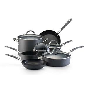 kitchenaid hard anodized nonstick 10 piece cookware set kitchen dining. Black Bedroom Furniture Sets. Home Design Ideas