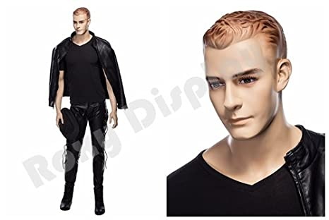 (MZ-WEN1) ROXYDISPLAY™ Realistic Male Mannequin with Molded Hair. Roxy Display Inc.