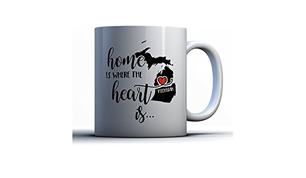 Michigan Home Is Where The Heart Is Coffee Mug Or Coffee Cup /> Michigan Gift Mug
