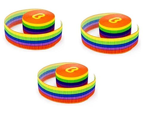 Amscan Rainbow Printed Crepe Party Streamer by