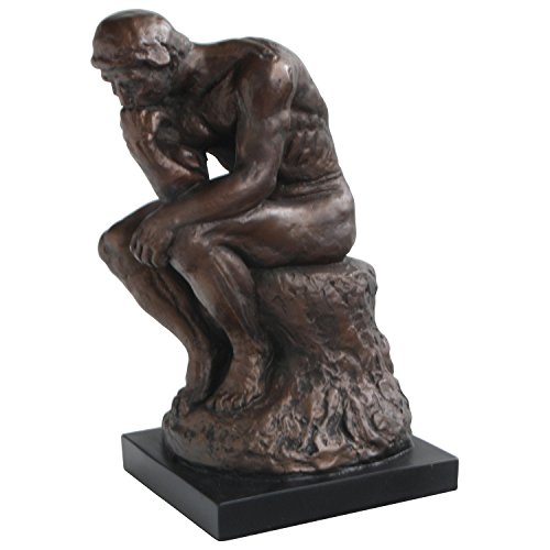 Culture Spot The Thinker by Rodin Statue, 11.5 Inches