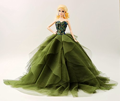 Cora Gu Strapless Classic Lace Dress//Gowns For Barbie Doll// Silkstone Doll //Girl