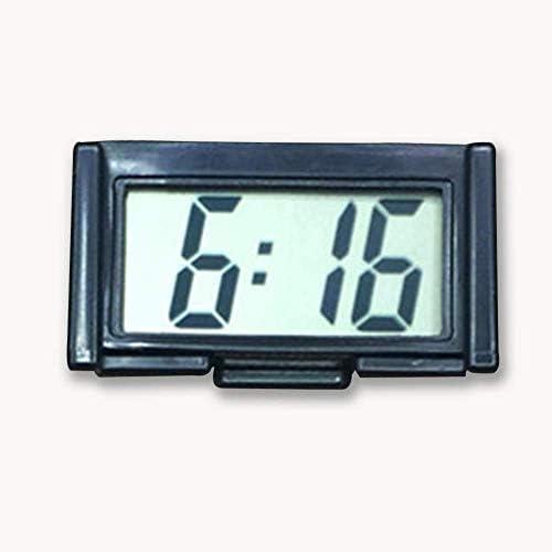 YXZQミニデジタル車電子時計電子時計液晶ディスプレイデジタル自己接着ブラケット