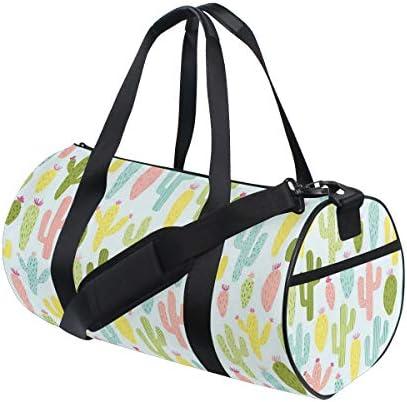 ボストンバッグ カラフルな サボテン ジムバッグ ガーメントバッグ メンズ 大容量 防水 バッグ ビジネス コンパクト スーツバッグ ダッフルバッグ 出張 旅行 キャリーオンバッグ 2WAY 男女兼用