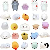 Original Stationery New: Squishies 15 pcs Random Pack [Extra Squishy] Super Cute Moshi Kawaii Animals: Seal, Panda, Kitty Cats and More All in One Package – Silly DIY Fun Toys for Girls and Boys