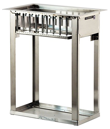 Lakeside 973 Drop-In Tray and Glass Rack Dispenser, Stainless Steel, Open Sides, Accommodates (6) 10''x20'' Racks by Lakeside Manufacturing