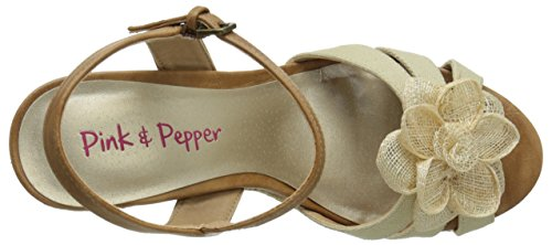 amp; Pink Pepper Espadrille Dynemite Natural Women's Sandal dff5xq