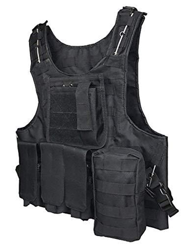 ThreeH Veste Tactique extérieure Costume d'armée de Campagne Paintball Gaming Gilet Équipement Protecteur pour la Chasse… 2