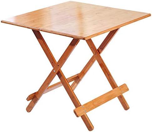 mesa plegable, Mesa De Playa De JardíN Cuadrada De Bambú De Calidad Cuadrada, 3 TamañOs: Amazon.es: Hogar
